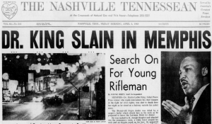 Image of Nashville Tennessean on April 5, 1968