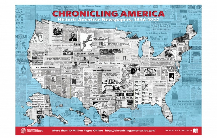 Chronicling America map