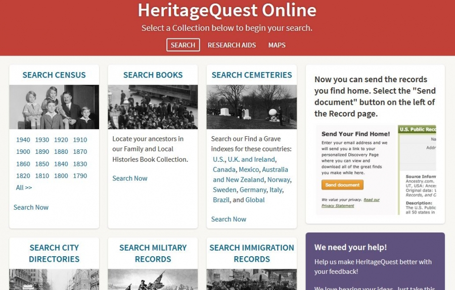 HeritageQuest screenshot
