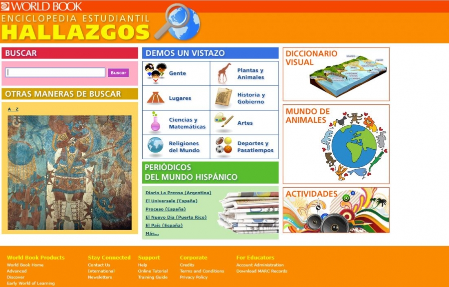 World Book Enciclopedia Estudiantil Hallazgos homepage