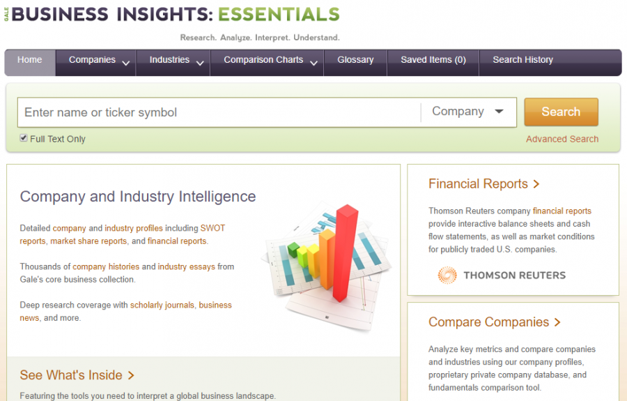 Business Insights: Essentials homepage